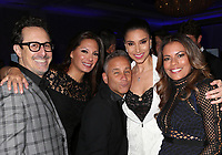 LOS ANGELES, CA - NOVEMBER 8: Alex Meneses, Lisa Vidal, Roselyn Sanchez, Jay Cohen, at the Eva Longoria Foundation Dinner Gala honoring Zoe Saldana and Gina Rodriguez at The Four Seasons Beverly Hills in Los Angeles, California on November 8, 2018. Credit: Faye Sadou/MediaPunch