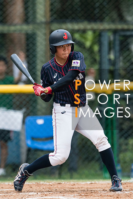 #13 Kanemitsu Ririna of Japan bats during the BFA Women's Baseball Asian Cup match between South Korea and Japan at Sai Tso Wan Recreation Ground on September 2, 2017 in Hong Kong. Photo by Marcio Rodrigo Machado / Power Sport Images