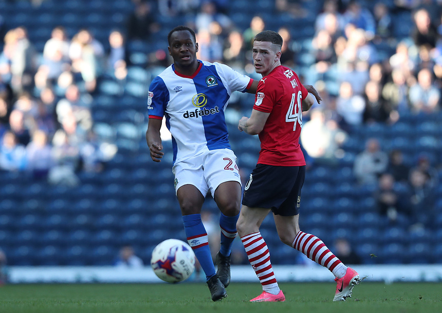 Blackburn Rovers' Ryan Nyambe in action during todays match<br /> <br /> Photographer Rachel Holborn/CameraSport<br /> <br /> The EFL Sky Bet Championship - Blackburn Rovers v Barnsley - Saturday 8th April 2017 - Ewood Park - Blackburn<br /> <br /> World Copyright &copy; 2017 CameraSport. All rights reserved. 43 Linden Ave. Countesthorpe. Leicester. England. LE8 5PG - Tel: +44 (0) 116 277 4147 - admin@camerasport.com - www.camerasport.com