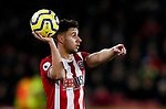 George Baldock of Sheffield United prepares to take a throw in during the Premier League match at Bramall Lane, Sheffield. Picture date: 5th December 2019. Picture credit should read: James Wilson/Sportimage