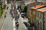 The peloton in action during Stage 2 of the 2018 Tour de France running 182.5km from Mouilleron-Saint-Germain to La Roche-sur-Yon, France. 8th July 2018. <br /> Picture: ASO/Pauline Ballet | Cyclefile<br /> All photos usage must carry mandatory copyright credit (&copy; Cyclefile | ASO/Pauline Ballet)