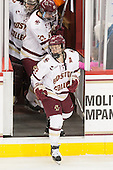 Andie Anastos (BC - 23) high fives Camryn Crowley, Haley Skarupa (BC - 22) - The Boston College Eagles defeated the visiting Providence College Friars 7-1 on Friday, February 19, 2016, at Kelley Rink in Conte Forum in Boston, Massachusetts.