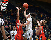 Hind Ben Abdelkader of California shoots the ball during the game against Oregon State at Haas Pavilion in Berkeley, California on January 3rd, 2014.  California defeated Oregon State, 72-63.