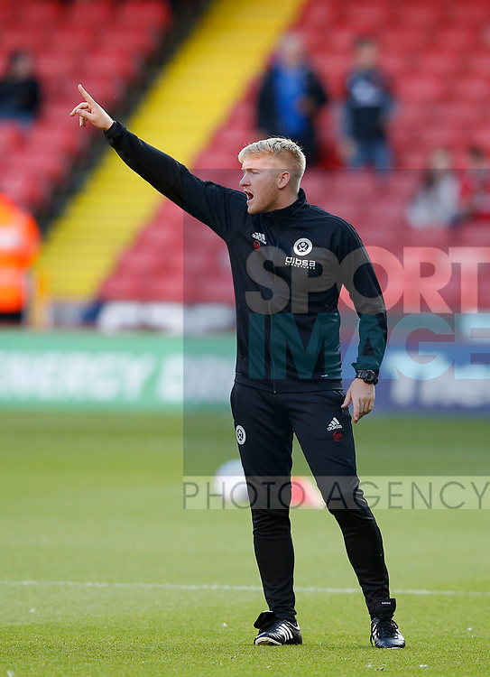 Matt Prestridge fitness coach during the Carabao Cup First Round match at Bramall Lane Stadium, Sheffield. Picture date: August 9th 2017. Pic credit should read: Simon Bellis/Sportimage