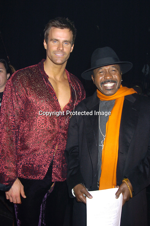 "Cameron Mathison and Ben Vereen ..at a performance of ""Pippin"" A Concert to Benefit The National Aids Fund and The Storm Theatre on November 29, 2004 at The Manhattan Center's Grand Ballroom...PHoto by Robin Platzer, Twin Images"
