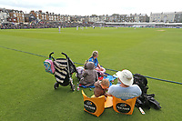 Spectators await the start of play ahead of Yorkshire CCC vs Essex CCC, Specsavers County Championship Division 1 Cricket at Scarborough CC, North Marine Road on 7th August 2017