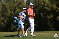 Ross Fisher (ENG) plays  up the 3rd during the Final Round of the 2016 Omega Dubai Desert Classic, played on the Emirates Golf Club, Dubai, United Arab Emirates.  07/02/2016. Picture: Golffile | David Lloyd<br /> <br /> All photos usage must carry mandatory copyright credit (&copy; Golffile | David Lloyd)
