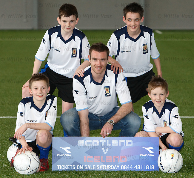 Stephen McManus at the new indoor football cente at Toryglen