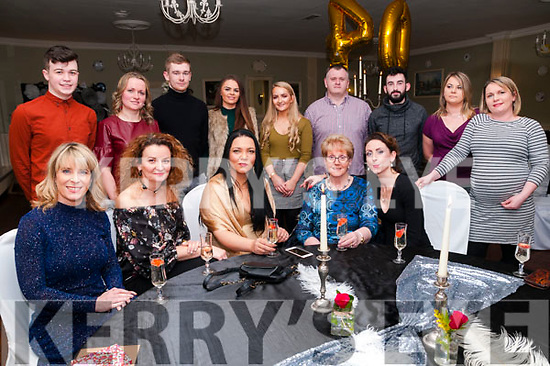 40th Birthday: Julianna Corbett, Listowel, centre front,  celebrating her 40th birthday with work colleagues at the Listowel Arms Hotel on Thursday night last.