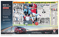 Sunday Mirror 28-Sep-2014 - 'I STILL TRUST IN RED WAYNE' - Photo by Rob Newell (Digital South)