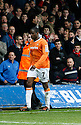 Adam Newton of Luton leaves the pitch after being sent off during the Blue Square Premier play-off semi-final 2nd leg  match between Luton Town and York City at Kenilworth Road, Luton on Monday 3rd May, 2010..© Kevin Coleman 2010 ..