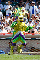 August 9, 2009:  Mascot BirdZirk! performs during a game at Wrigley Field in Chicago, IL.  Iowa is the Pacific Coast League Triple-A affiliate of the Chicago Cubs.  Photo By Mike Janes/Four Seam Images