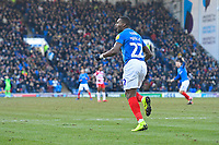 Omar Bogle of Portsmouth scores the equaliser and celebrates during Portsmouth vs Doncaster Rovers, Sky Bet EFL League 1 Football at Fratton Park on 2nd February 2019
