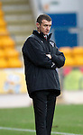 St Johnstone v Dunfermline....25.02.12   SPL.Jim McIntyre looks on.Picture by Graeme Hart..Copyright Perthshire Picture Agency.Tel: 01738 623350  Mobile: 07990 594431