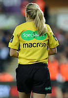 Specsavers and Macron branding on the match officials kits <br /> <br /> Photographer Ashley Crowden/CameraSport<br /> <br /> Guinness Pro14 Round 6 - Ospreys v Scarlets - Saturday 7th October 2017 - Liberty Stadium - Swansea<br /> <br /> World Copyright &copy; 2017 CameraSport. All rights reserved. 43 Linden Ave. Countesthorpe. Leicester. England. LE8 5PG - Tel: +44 (0) 116 277 4147 - admin@camerasport.com - www.camerasport.com