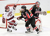 Leanna Coskren (Harvard - 24), Ginny Berg (NU - 17), Leah Sulyma (NU - 1) - The Harvard University Crimson defeated the Northeastern University Huskies 1-0 to win the 2010 Beanpot on Tuesday, February 9, 2010, at the Bright Hockey Center in Cambridge, Massachusetts.