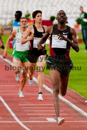 Ismail Ahmed Ismail (R) from Sudan competes in 800m men's running he won with 1:46.78 during the Istvan Gyulai Memorial Hungarian Athletics Grand Prix 2011, in the Ferenc Puskas Stadium in Budapest, Hungary on July 30, 2011. ATTILA VOLGYI