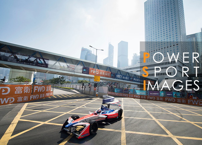 Felix Rosenqvist of Sweden from Mahindra Racing competes in the Formula E Qualifying Session 2 during the FIA Formula E Hong Kong E-Prix Round 2 at the Central Harbourfront Circuit on 03 December 2017 in Hong Kong, Hong Kong. Photo by Marcio Rodrigo Machado / Power Sport Images