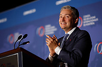 Canadian Minister of International Trade Fran&ccedil;ois-Philippe Champagne speak before the CORIM, friday, september 29, 2017<br /> <br /> PHOTO : Agence quebec Presse