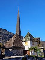 Kirche St. Josef im Ortsteil M&uuml;hlbach, Algund-Lagundo, Provinz Bozen &ndash; S&uuml;dtirol, Italien<br /> Church St. Joseph in district M&uuml;hlbach, Algund-Lagundo, province Bozen-South Tyrol, Italy