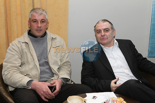 Gabriel Carausan and Ray Hall from Vertical Marketing at the Local Heroes event in the d Hotel.....(Photo credit should read Jenny Matthews www.newsfile.ie)....This Picture has been sent you under the conditions enclosed by:.Newsfile Ltd..The Studio,.Millmount Abbey,.Drogheda,.Co Meath..Ireland..Tel: +353(0)41-9871240.Fax: +353(0)41-9871260.GSM: +353(0)86-2500958.email: pictures@newsfile.ie.www.newsfile.ie.