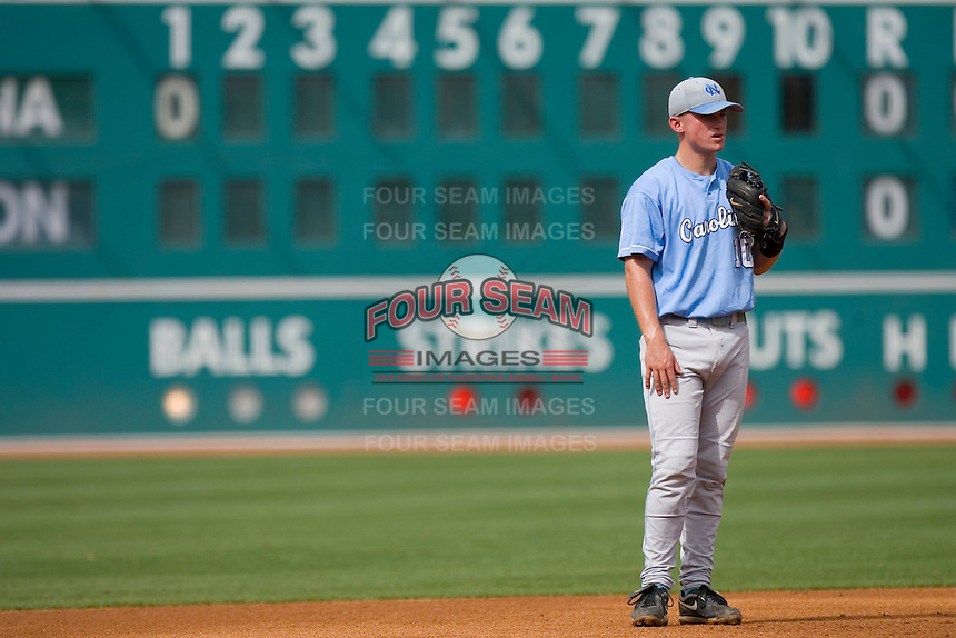 Third baseman Kyle Seager #10 of the North Carolina Tar Heels on defense versus the Clemson Tigers at Durham Bulls Athletic Park May 23, 2009 in Durham, North Carolina. The Tigers defeated the Tar Heals 4-3 in 11 innings.  (Photo by Brian Westerholt / Four Seam Images)