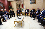 Palestinian Hamas chief in the Gaza strip Ismail Haniyeh, meets members of the Islamic Jihad in Cairo, on December 3, 2019. Photo by Office Media