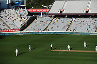 Tea LED signage and general view.<br /> New Zealand Blackcaps v England. 1st day/night test match. Eden Park, Auckland, New Zealand. Day 4, Sunday 25 March 2018. &copy; Copyright Photo: Andrew Cornaga / www.Photosport.nz