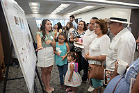 """Differences in microbiome diversity and abundance between sister species of Jadera; seed-eating insects from Costa Rica and California"" by Vanessa Rodriguez<br /> (Mentor: Shana Goffredi, Biology)<br /> Occidental College's Undergraduate Research Center hosts their annual Summer Research Conference, Aug. 1, 2018. Student researchers presented their work as either oral or poster presentations at the final conference. The program lasts 10 weeks and involves independent research in all departments.<br /> (Photo by Marc Campos, Occidental College Photographer)"