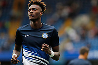 Tammy Abraham of Chelsea warming up during the Premier League match between Chelsea and Sheff United at Stamford Bridge, London, England on 31 August 2019. Photo by Carlton Myrie / PRiME Media Images.