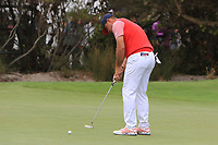 Gary Woodland (USA) on the 10th green during the First Round - Four Ball of the Presidents Cup 2019, Royal Melbourne Golf Club, Melbourne, Victoria, Australia. 12/12/2019.<br /> Picture Thos Caffrey / Golffile.ie<br /> <br /> All photo usage must carry mandatory copyright credit (© Golffile | Thos Caffrey)