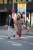 Soir&eacute;e d'avant-mariage du Prince Ernst junior de Hanovre et de Ekaterina Malysheva, &agrave; la Brasserie Ernst August Brauhaus, &agrave; Hanovre.<br /> Allemagne, Hanovre, 7 juillet 2017.<br /> Pre wedding party of Prince Ernst Junior of Hanover and Ekaterina Malysheva at the Ernst August Brauhaus restaurant in Hanover.<br /> Germany, Hanover, 7 july 2017<br /> Pic : Prince Andrea Casiraghi &amp; wifeTatiana Santo Domingo,