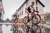 Tony Martin (DEU/Katusha-Alpecin) &amp; Vasil Kiryienka (BLR/SKY) dropped during the local lap in Iseo<br /> <br /> stage 17: Riva del Garda - Iseo (155 km)<br /> 101th Giro d'Italia 2018