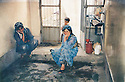 Iran 1990 .Iraqi Kurdish women in exile in Kani Zar, in the middle Mahmoud Sangawy's wife .Iran 1990 .Femmes kurdes irakiennes en exil a Kani Zar, au milieu la femme de Mahmoud Sangawy