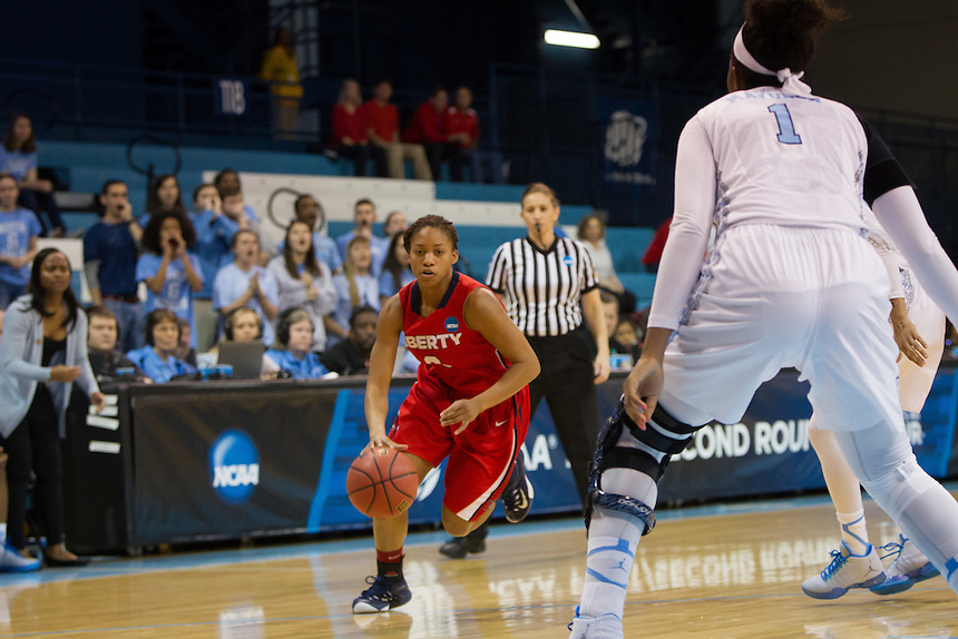 The Lady Flames play UNC during the first round of the NCAA Women's Basketball Tournament at the Carmichael Arena on March 21, 2015. (Photo by Kevin Manguiob)