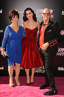 Katy Perry, Parents at the premiere of Paramount Insurge's 'Katy Perry: Part Of Me' at Grauman's Chinese Theatre on June 26, 2012 in Hollywood, California. &copy;&nbsp;mpi35/MediaPunch Inc. /*NORTEPHOTO*<br />
