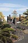 'Energia de la Piramide' wind sculpture, Fundación César Manrique, Taro de Tahíche, Lanzarote, Canary islands, Spain