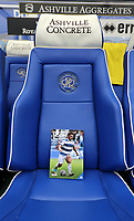 The front of the match day programme on the players seat during Queens Park Rangers vs Blackburn Rovers, Sky Bet EFL Championship Football at Loftus Road Stadium on 5th October 2019