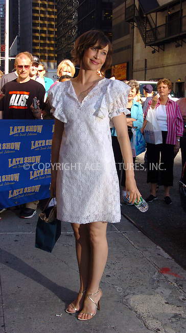 WWW.ACEPIXS.COM . . . . .  ....July 12 2007, New York City....Actress Vera Farmiga at 'The Late Show with David Letterman' at the Ed Sullivan Theatre in Manhattan.....Please byline: AJ Sokalner - ACEPIXS.COM..... *** ***..Ace Pictures, Inc:  ..te: (646) 769 0430..e-mail: info@acepixs.com..web: http://www.acepixs.com