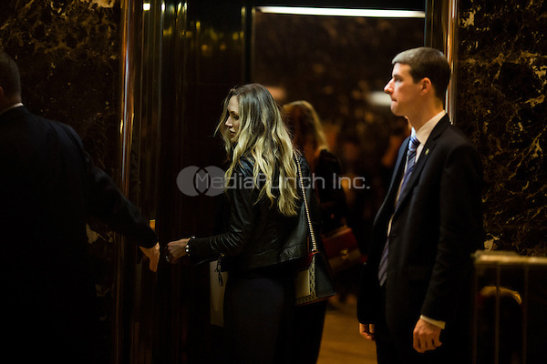 Lara Trump arrives at Trump Tower in Manhattan, New York, U.S., on Thursday, January 12, 2017. <br /> Credit: John Taggart / Pool via CNP /MediaPunch