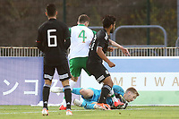 Republic of Ireland & Liverpool goalkeeper, Caolmhin Kelleher makes a save at the feet of Mexico's Eduardo Aguirre during Republic Of Ireland Under-21 vs Mexico Under-21, Tournoi Maurice Revello Football at Stade Parsemain on 6th June 2019