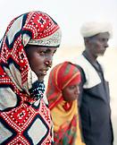 ERITREA, Saroita, portrait of the Bedri family in front of their home in the small village of Saroita, Afar family