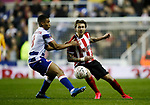Luke Freeman of Sheffield Utd turns Andy Rinomhota of Reading during the FA Cup match at the Madejski Stadium, Reading. Picture date: 3rd March 2020. Picture credit should read: Simon Bellis/Sportimage