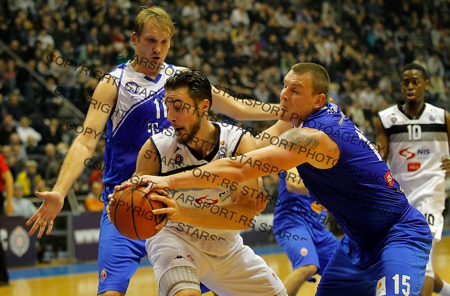 Joffrey Lauvergne ABA liga, Partizan - MZT Skoplje Januar 26, 2014. in Belgrade, Serbia (credit image & photo: Pedja Milosavljevic / STARSPORT / +318 64 1260 959 / thepedja@gmail.com)