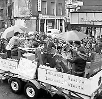 The St. Patrick's Day Parade makes its way down High Street and onto Main Street in 1978. .Picture by Don MacMonagle.www.macmonagle.com