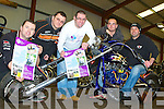 REV-UP 4 DSI: Launching the 2nd Annual Dyno Day in aid of Down Syndrome Ireland to be held on the 26th of February at O'Neills Power Equipment Clash, Tralee l-r: John McElligott, Tom Dolan, Mark Ennis, and Niall and Raymond O'Neill.