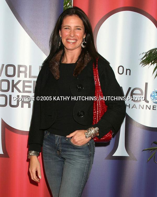 MIMI ROGERS.LA POKER CLASSIC & WORLD POKER TOUR INVITATIONAL.COMMERCE CASINO.LOS ANGELES, CA.FEBRUARY 23, 2005.©2005 KATHY HUTCHINS /HUTCHINS PHOTO...