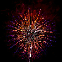 Fiesta 2011 Fireworks - San Antionio Abstract Digital Art