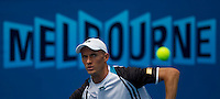 Nikolay Davydenko (RUS) (6) against  Illya Marchenko (UKR) in the Second Round of the Mens Singles. Davydenko beat Marchenko 6-3 6-3 6-0..International Tennis - Australian Open Tennis - Thur 21 Jan 2010 - Melbourne Park - Melbourne - Australia ..© Frey - AMN Images, 1st Floor, Barry House, 20-22 Worple Road, London, SW19 4DH.Tel - +44 20 8947 0100.mfrey@advantagemedianet.com