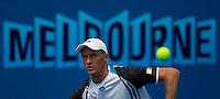 Nikolay Davydenko (RUS) (6) against  Illya Marchenko (UKR) in the Second Round of the Mens Singles. Davydenko beat Marchenko 6-3 6-3 6-0..International Tennis - Australian Open Tennis - Thur 21 Jan 2010 - Melbourne Park - Melbourne - Australia ..© Frey - AMN Images, 1st Floor, Barry House, 20-22 Worple Road, London, SW19 4DH.Tel - +44 20 8947 0100.mfrey@advantagemedianet.com
